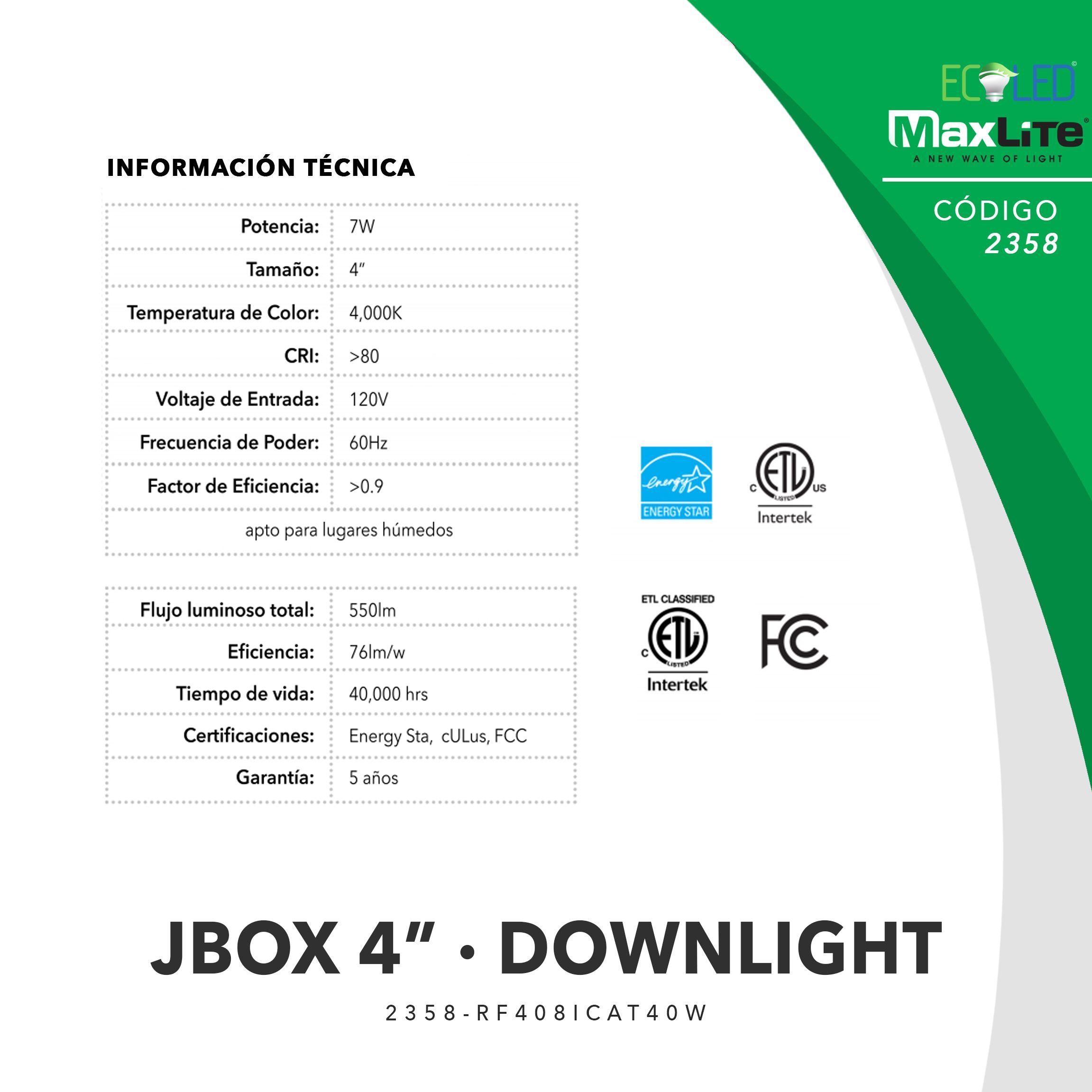 2358 - JBOX DOWNLIGHT 4